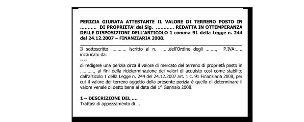 Documento senza titolo - Perizia valore immobile ...
